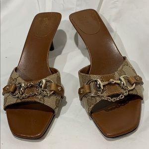 """Gucci """"Horsebit"""" open toe mule slide size 7.5"""